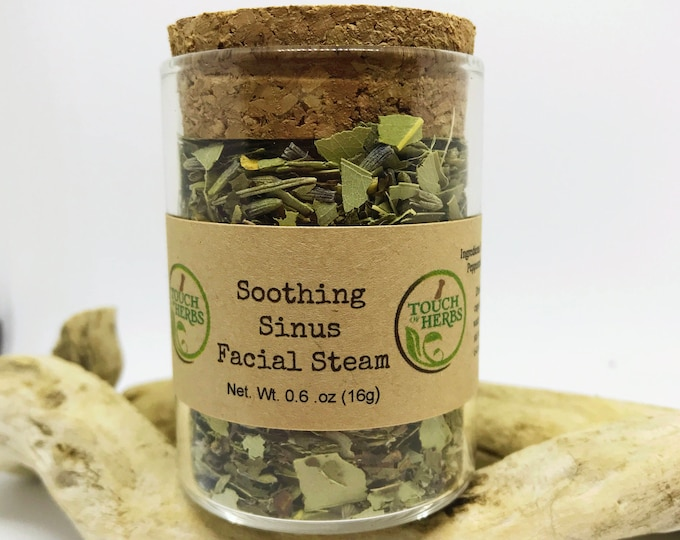 Soothing Sinus Facial Steam - Facial Steam - Herbal skin care - Glass will give up to 5 steams - Herbal cleanse - Herbal medicine - Organic