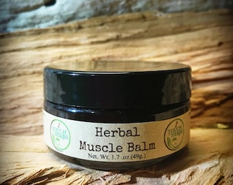 Herbal Muscle Balm - Natural Pain Relief Salve