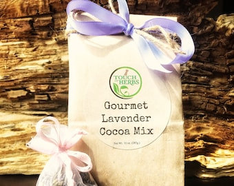 Gourmet Lavender Cocoa Mix with Sachet of Lavender Sprinkles