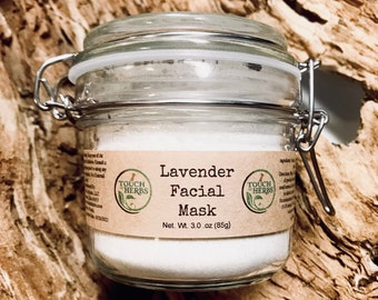 Lavender Facial Mask Glass Jar
