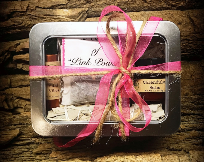 Breast Cancer Gift Box - Pink Ribbon Gift Box -Breast Cancer Gifts - Pink Power Box