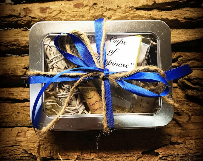 Colon Cancer Gift - Blue Ribbon Gift Box - Cancer Patient Gift - Blue Ribbon Gifts