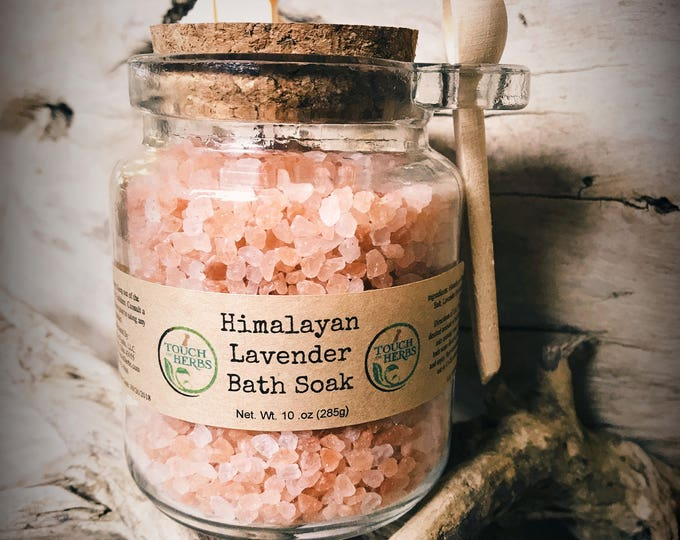 Himalayan Bath Salt Glass Jars - Pink Bath Salt - Bath Salts with Spoon - Bath and Beauty Gift - Bath and Body Gift - Bath Salts in a Jar