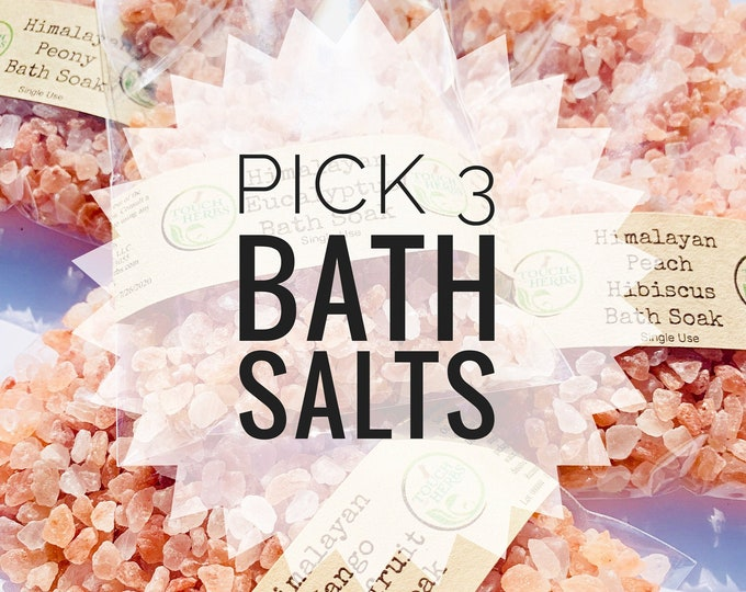 Pick 3 Bath Salt Set