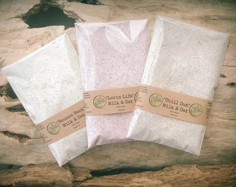 Bath and Beauty Gift Set - Milk and Oat Bath - Bath and Body Gift Set - Variety Pack - Christmas Stocking - Spa Kits & Gifts - Organic Gifts