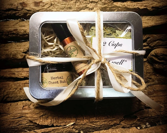Get Well Gift Box - Get Well Care Package - Herbal Remedy Gift Box