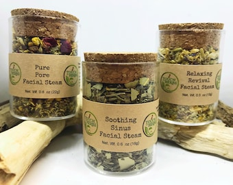 Facial Steam Variety Pack - Skin Care Gift Set