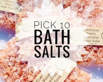 Pick 10 Bath Salt Set