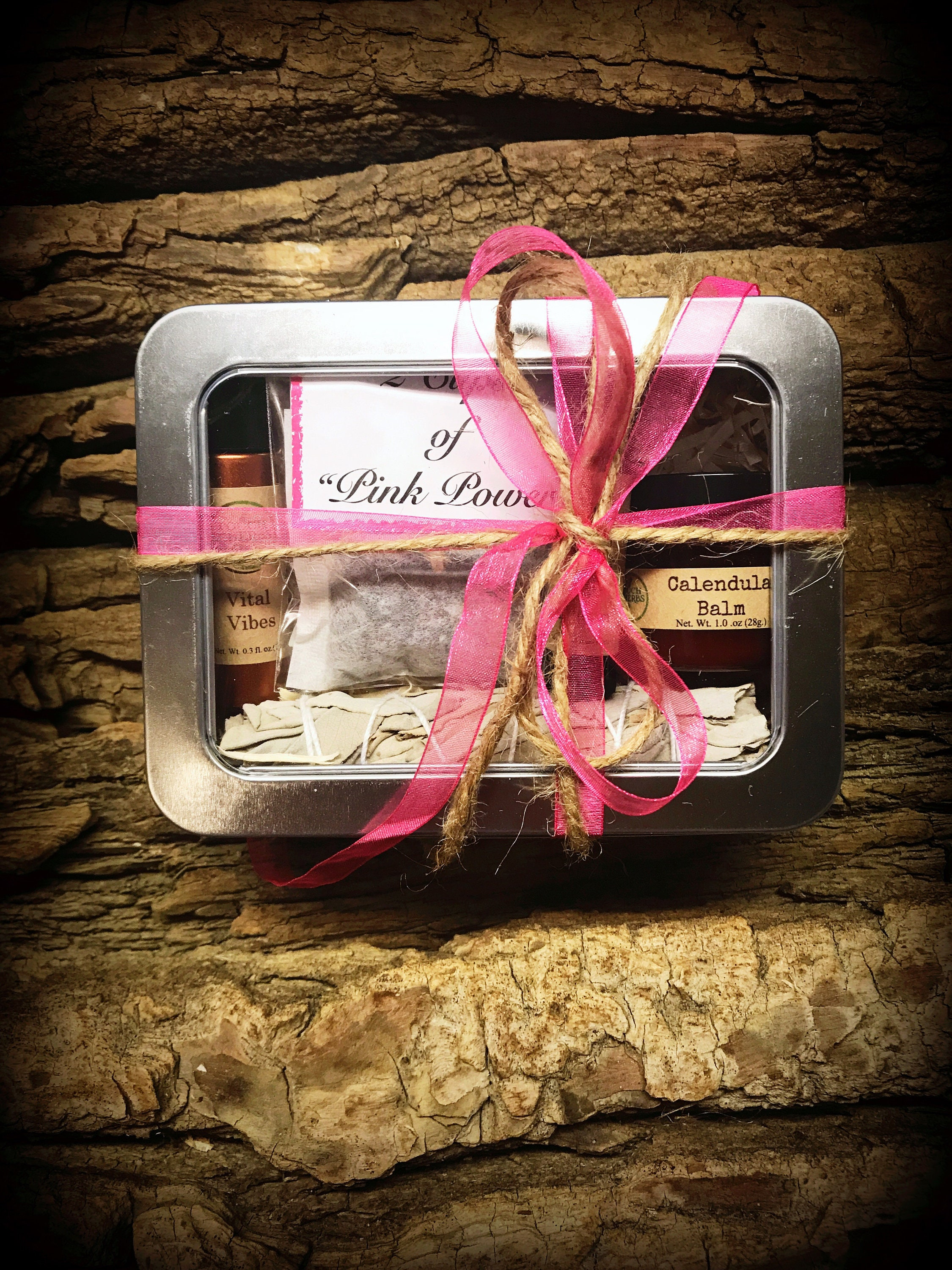 Pink ribbon gift for breast cancer