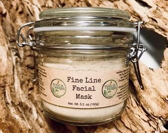 Fine Line Facial Mask Glass Jar