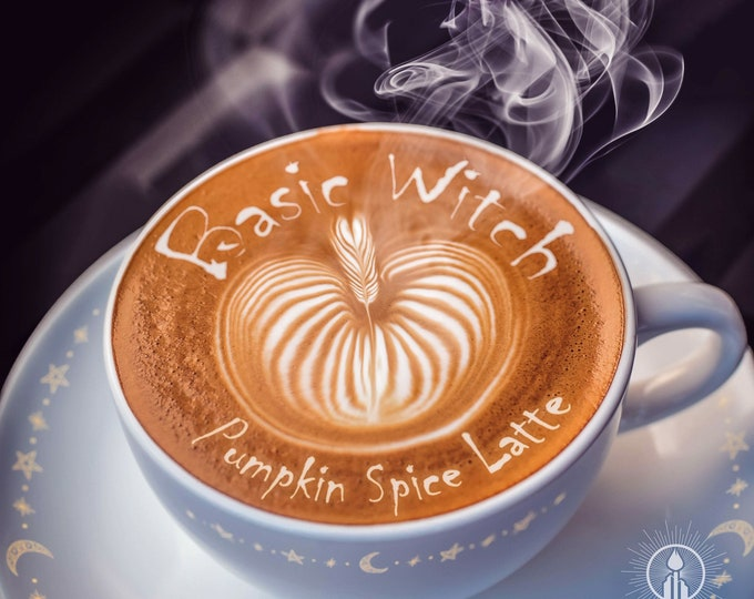BASIC WITCH - Pumpkin Spice Latte - Luxe Coconut Wax Travel Candle