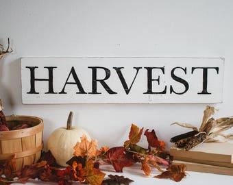 Harvest | Rustic Signs | Rustic Decor | Farmhouse Signs | Farmhouse Decor | Rustic Fall | Fall Decor | Autumn Decor | Rustic Fall Decor