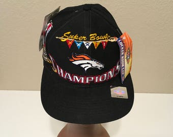 Super Bowl Champions Denver Broncos San Diego XXXII Hat Snapback - New with  Tags! d7f3173a50ba