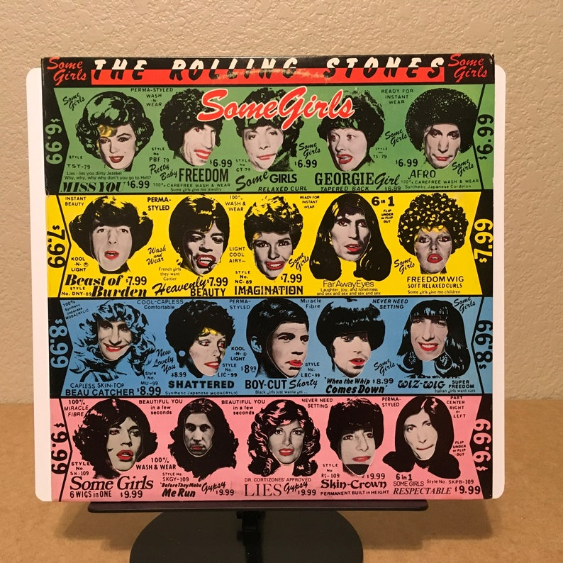 The Rolling Stones - Some Girls - BANNED/WITHDRAWN 1st Version COC 39108  die cut with Celebrity faces - rock blues disco