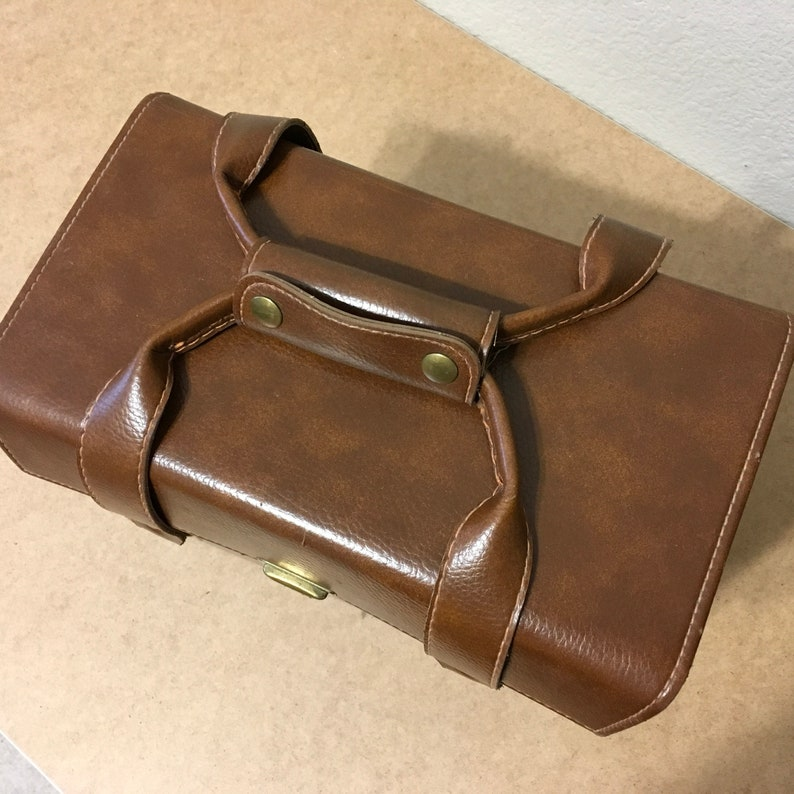 Vintage FOCAL Kmart Hard Leather Camera Bag with Strap in excellent  condition! Made in the USA