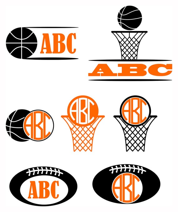 Boys monograms SVG Kids vector monogram Sport diy Monogram | Etsy
