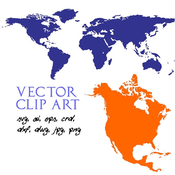 World map vector map of the world svg silhouette svg dxf eps world map vector map of the world svg silhouette svg dxf eps ai cdr files design element clipart includes bonus map of n america from gumiabroncs Image collections