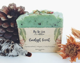 Eucalypt Forest Soap | Vegan Soap - Handcrafted Soap - Cold Process Soap - Natural Soap
