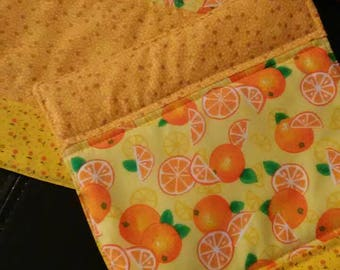 Citrus pot holders or hot pads for the table, sold as a set of two