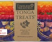 Tonga Treats Batiks - Pinwheel Shortcake Junior Layer Cake by Timeless Treasures - 20, 10 x 10 quot Squares per pack (1 each of 20 fabrics)