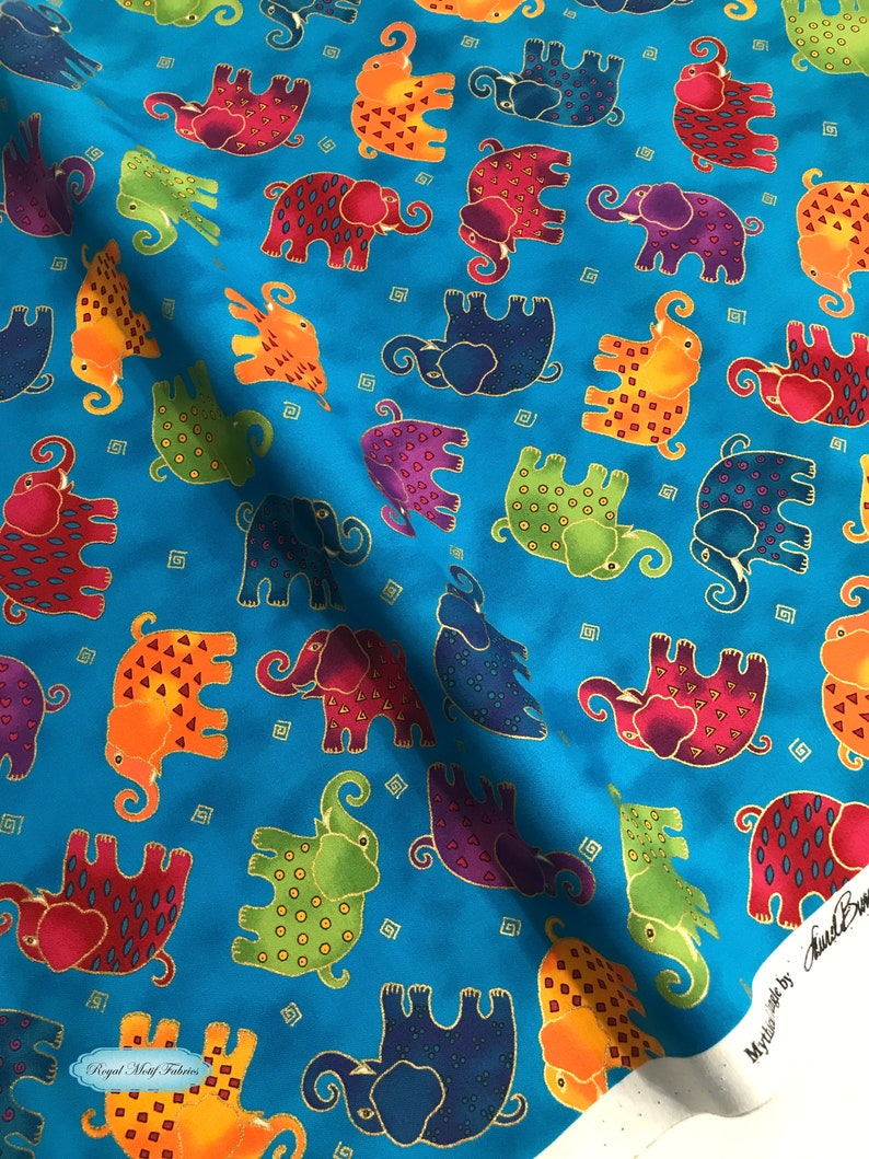 deeebbd393906 Clothworks - Mythical Jungle Dark Aqua Metallic - Sold by 1/2 Yard  Increments