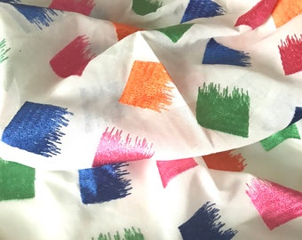 Half Yard - Voile Fabric - Embroidered Cotton Voile Fabric
