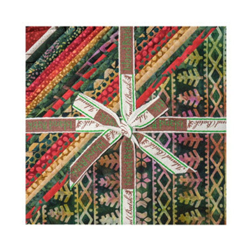 42 Island Batik Alpine Jingle Batiks Stack PackLayer Cake by Kathy Engle 10 X 10 Precut Batik Fabrics