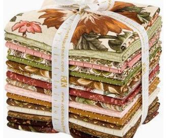 "Robert Kaufman - Country Manor Antique Colorstory Fat Quarter Bundle by Darlene Zimmerman - 15 FQ's  - 18"" x 21"" each FQ - 100% Cotton"