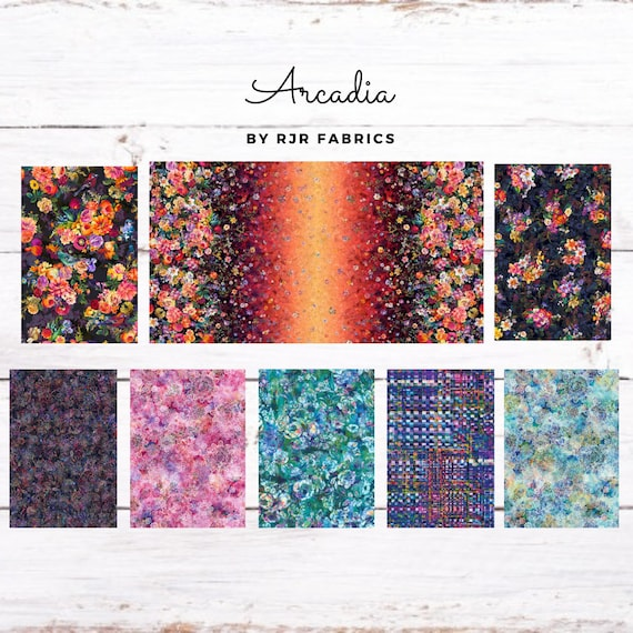 RJR Fabrics Arcadia Digitally Printed Cotton Fabrics by RJR Studio *Each Sold by the Yard*