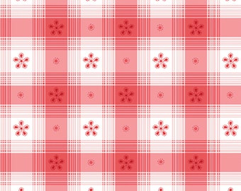 Benartex - Simply Chic - Toile Check Red by Anna Stuart
