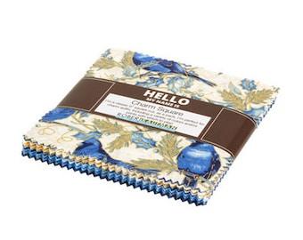 """Robert Kaufman - Winter's Grandeur 8 - Blue Colorstory Charm Squares - 42, 5"""" x 5"""" Precut Squares"""