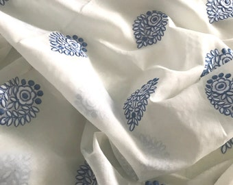 Half Yard - Voile - Embroidered Cotton Voile Fabric