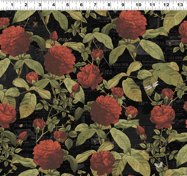 db0058fa127ac Clothworks - Everlasting Rose -*Sold by 1/2 Yard Continuous Increments*