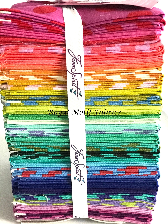 Esprit libre - - - tous les étoiles Pom Poms, solides et rayures Fat Quarter Bundle - 46 Fat Quarters 996b4f