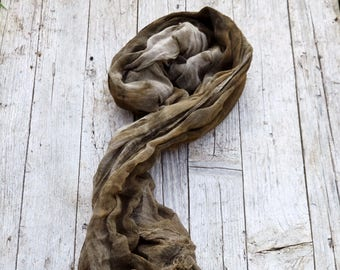 Cotton shawl, plant based dye, eco friendly wrap, natural dye