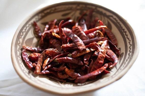 De Arbol chillies, dried chillies. 50G