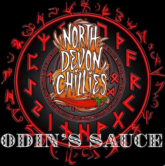 Odin sauce, hot sauce, chilli sauce.