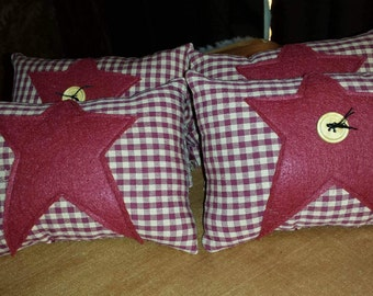 Star Pillow with button