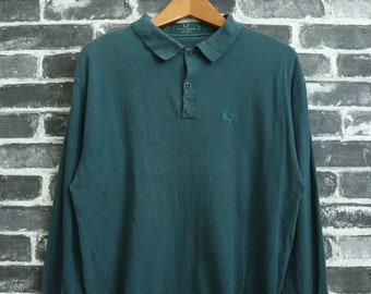 5143941dde654 Vintage Ellesse Polos Shirt Ring Collar 80s Mens Sport   Etsy