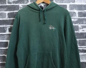 2545a1b9feab VINTAGE Stussy Army hoodie Camouflage logo Fade olive kangaroo pocket not  wear SUPREME bape street wear/skate wear 90s Size M