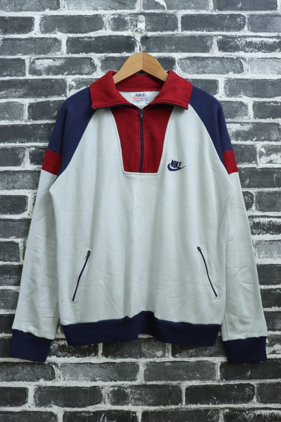 Nike Jacket Sweater 70's ? Vintage Warm porter Street Retro Fashion SPORT Track RARE Taille L