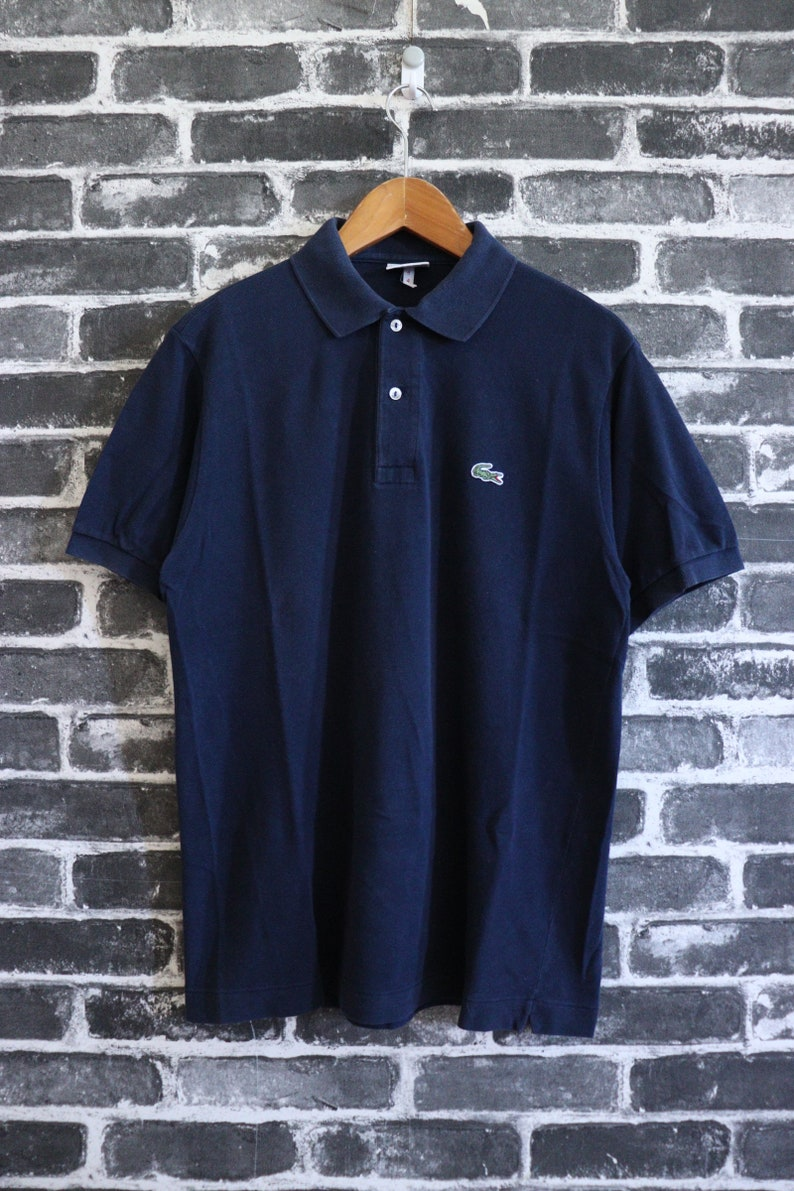 63dff5fc2b862 90s LACOSTE Polo T shirt Navy Casual Wear/Polo Tennis/Active wear tennis  sport Size 4