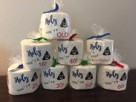 Birthday Gag Gift Toilet Paper Teen Funny