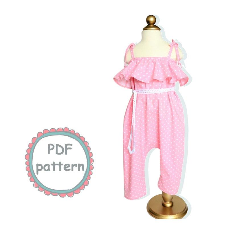 312146cbe696 Off-the-shoulder Romper PDF Girls Romper pattern Harem