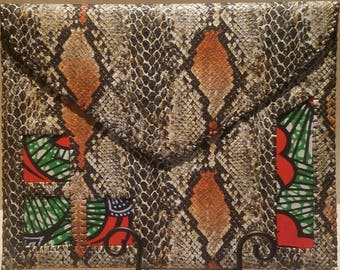 Snake Skin Enlarged Handmade Clutch