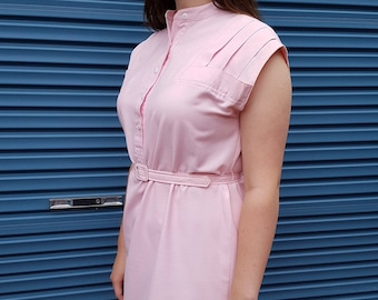 ab00313993d5d Pink cotton day dress   Etsy