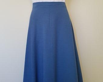 5ef0dd7fa3 Vintage 70s Sky Blue A-Line Hipster Skirt Size Small Medium