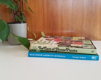 Vintage 70s Indoor Garden & House Plants Hard Cover Books