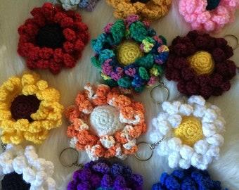 Crochet keychain/ flower keychain/ purse decor