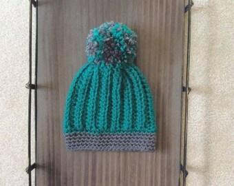 Puff ball beanie. Handmade crochet beanie/hat
